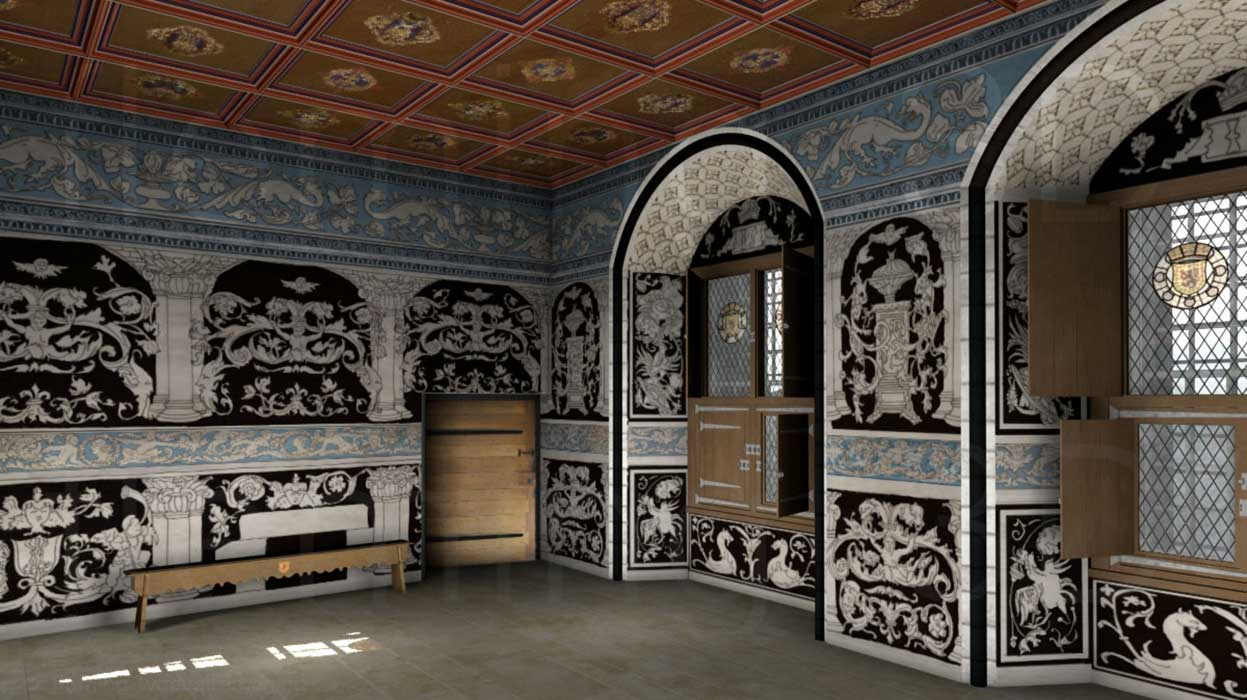Painted image of the King's Outer Hall