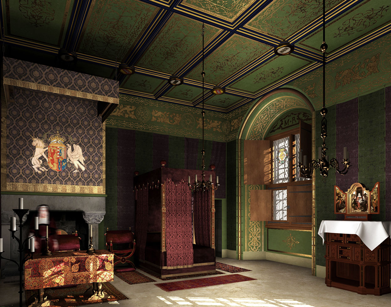 Bedchamber of Mary of Guise 1542